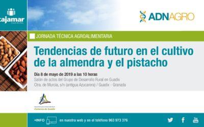 El GDR de Guadix y CAJAMAR convocan una jornada técnica para los productores de almendra y pistacho de la comarca.