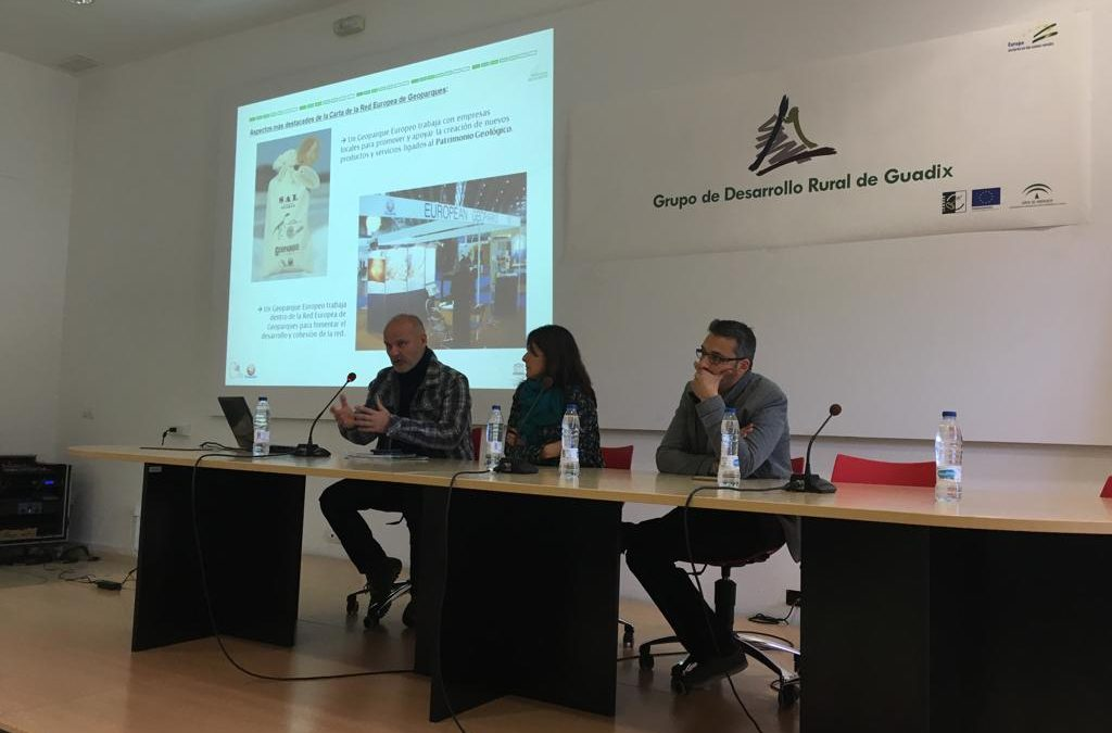 1ª Jornada del Seminario sobre los Geoparques andaluces en la sede del GDR de Guadix.