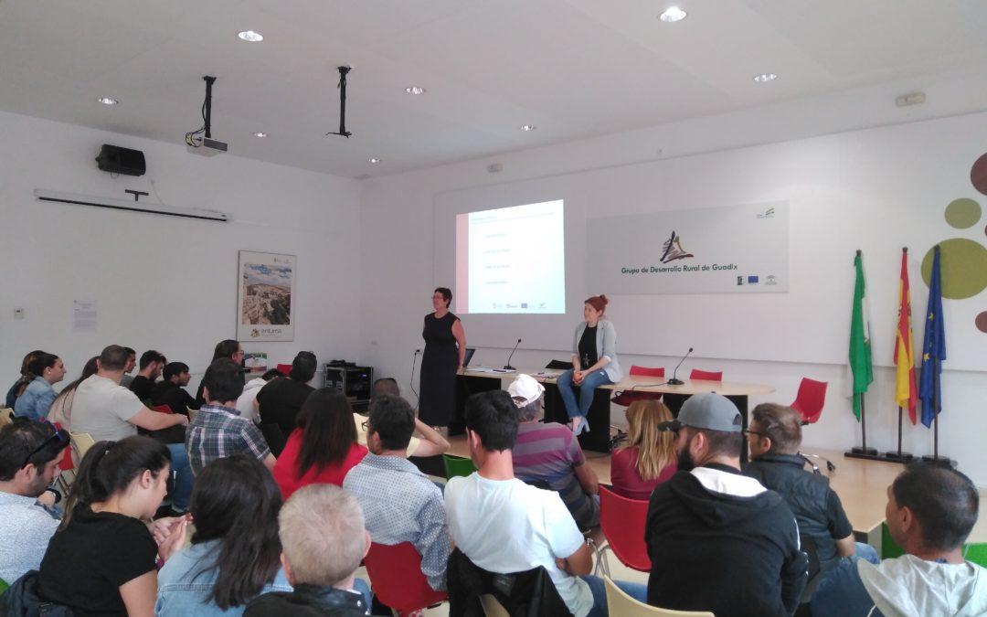Talleres de Orientación sobre Independencia e Iniciativa en la búsqueda de empleo, en la sede del GDR de Guadix.