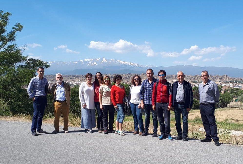 """""""Sierra nevada, destino de turismo sostenible"""". Reunión en el GDR de Guadix con la comisión de trabajo de la Carta Europea de Turismo Sostenible."""