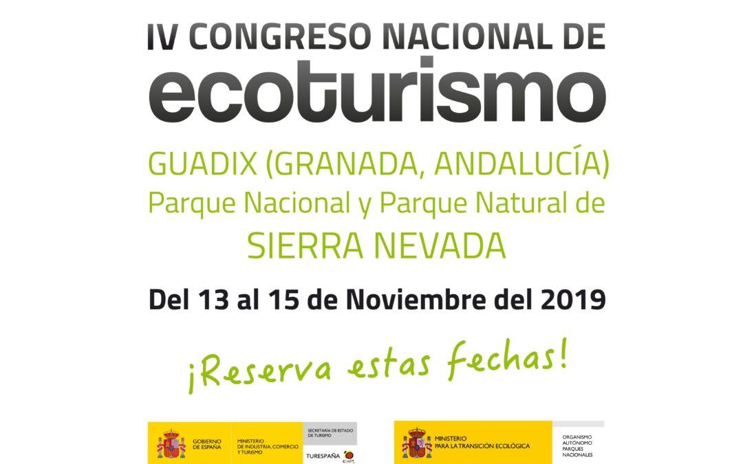 Abierto el plazo de inscripción para el IV Congreso Nacional de Ecoturismo