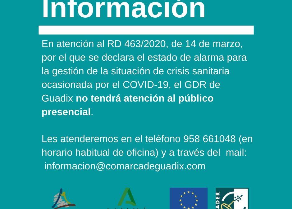 Estado de alarma situación de crisis sanitaria ocasionada por el COVID-19