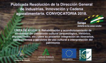 Publicada Resolución de la Dirección General de Industrias, Innovación y Cadena agroalimentaria. CONVOCATORIA 2018. LÍNEA 06